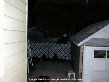 Ghost photo - backyard orbs