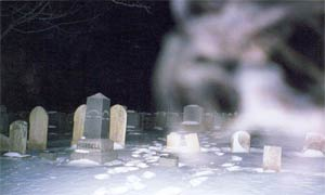 Ghost picture - Gunntown Cemetery, Naugatuck, Connecticut.