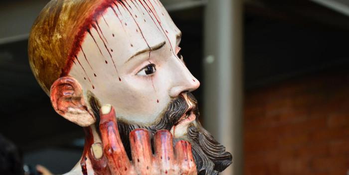 Jesus Christ resting in San Bartolo, Mexico