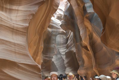 ghost picture in Antelope Canyon, Arizona