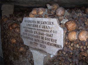 The Catacombs - Paris, France - grave marker