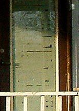 Close-up of the doorway